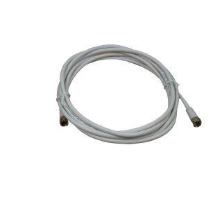 SAT Anschlusskabel [1x F-Stecker - 1x F-Stecker] 3 m dB Weiß Axing hochgeschirmt