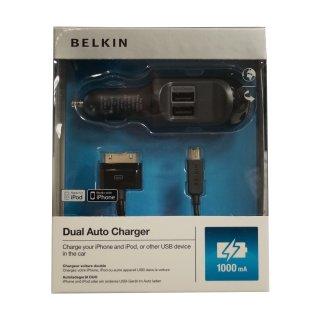 Belkin Dual Kfz-Charger, Auto-Ladegerät 500/1000mA
