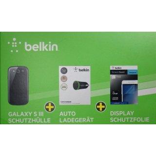 38 Stück Belkin Zubehör-Set Schutzhülle, Car-Charger, Schutzfolie
