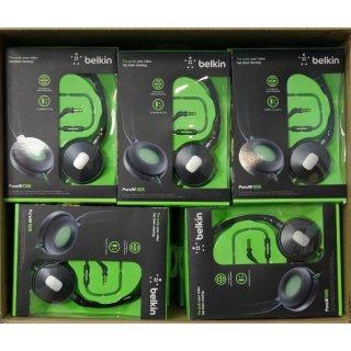 POSTEN! 20 Stück Belkin On-Ear Kopfhörer PureAV 005, Headset, schwarz