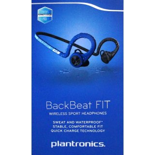 Plantronics Stereo Bluetooth Headset BackBeat Fit,Power Blue