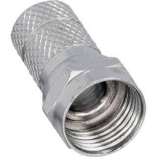 InLine® F-Stecker, für Koaxialkabel mit Aussenmantel 6,5mm, 100er Pack, bulk