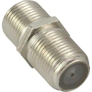 InLine® SAT F-Verbinder (Doppelbuchse, F-Kupplung), 100er Pack, bulk