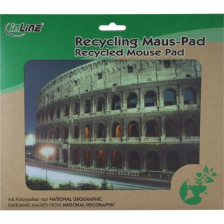 InLine® Maus-Pad Recycled Foto, Colloseum, 240x190x3mm
