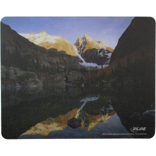 InLine® Maus-Pad Recycled Foto, Mountain Lake, 240x190x3mm
