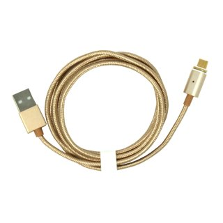 Magnetisches Micro USB Kabel, 120 cm, gold