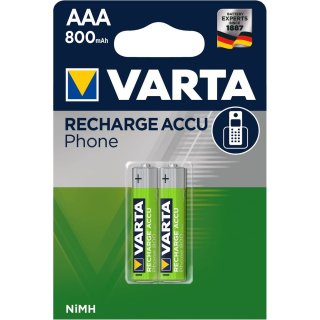 2x VARTA PhonePower Akku f. Schnurlostelefone AAA (4 Stück)