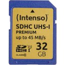 Intenso 32GB SDHC UHS-I Premium Secure Digital Card