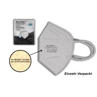 Dr.Family FFP2 20er Set Atemschutzmaske 5 Lagig Mundschutz Maske Mund Nasen Schutz CE 2163 Zertifikat